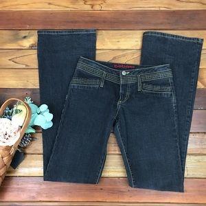 Bebe Gray Black Denim Flare Jeans